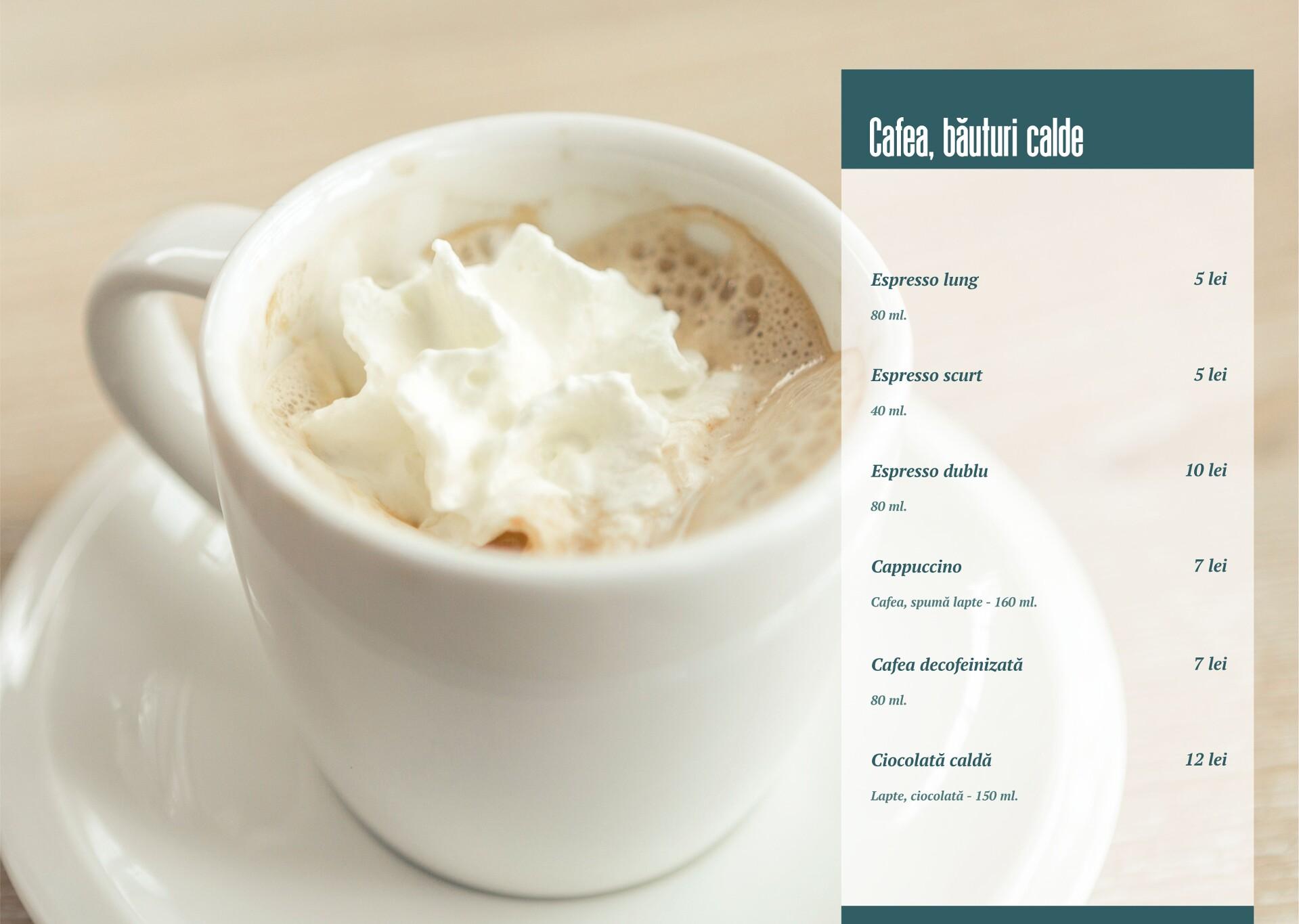 Cafea, băuturi calde - pagina 1